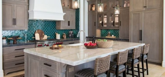 Enhance the functionality of the kitchen with durable backsplash